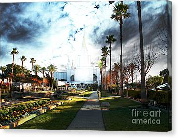 Oakland California Temple . The Church Of Jesus Christ Of Latter-day Saints Canvas Print