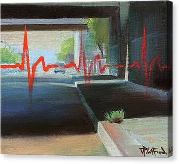 Canvas Print featuring the painting Oakland by Dave Platford