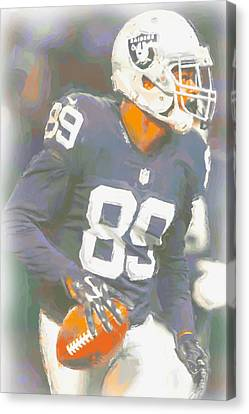 Oakland Raiders Amari Cooper Canvas Print by Joe Hamilton