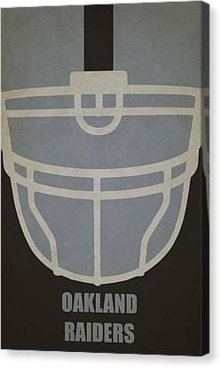 Oakland Raiders Helmet Art Canvas Print by Joe Hamilton