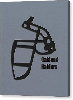 Oakland Raiders Retro Canvas Print by Joe Hamilton