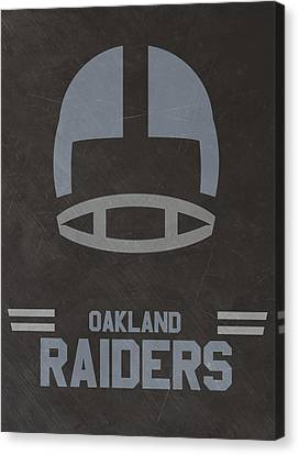 Oakland Raiders Vintage Art Canvas Print by Joe Hamilton