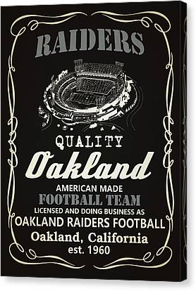 Oakland Raiders Whiskey Canvas Print by Joe Hamilton
