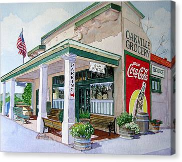 Oakville Grocery Canvas Print by Gail Chandler