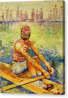 Oarsman Canvas Print by Cynthia Powell