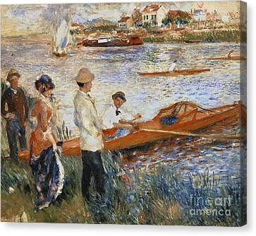 Oarsmen At Chatou Canvas Print by Pierre Auguste Renoir