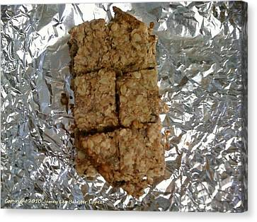 Oat Bars Canvas Print by Jamey Balester