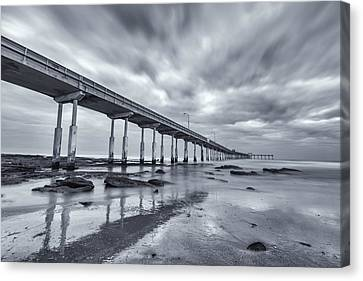 O.b. Pier Monochrome Canvas Print