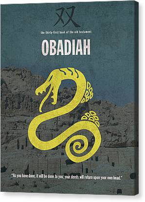 Obadiah Books Of The Bible Series Old Testament Minimal Poster Art Number 31 Canvas Print