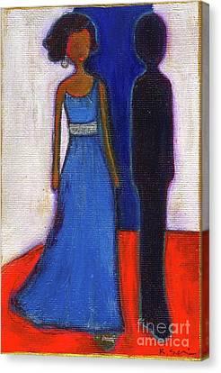 Obama Black And Blue Canvas Print by Ricky Sencion