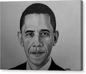 Obama Canvas Print by Carlos Velasquez Art