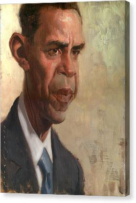Obama Canvas Print by Court Jones