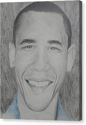 Obama Gq Canvas Print by Kevin  Williams