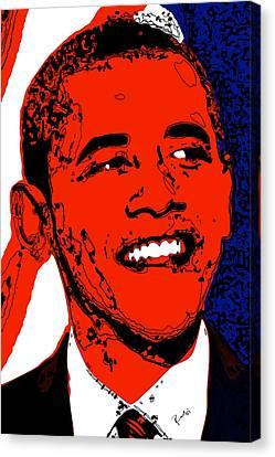 Canvas Print featuring the digital art Obama Hope by Rabi Khan