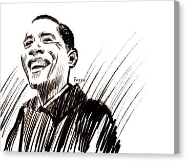 Obama Canvas Print by Michael Facey