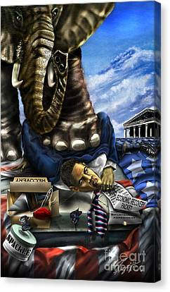 Obama Canvas Print by Reggie Duffie