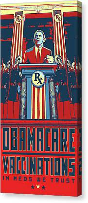 Obmacare In Meds We Trust Canvas Print