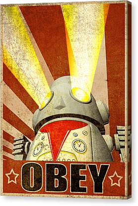 Obey Version 2 Canvas Print by Michael Knight