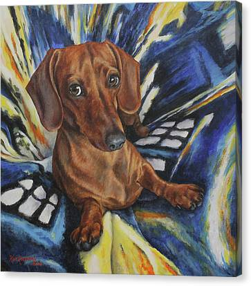 Canvas Print featuring the painting Obi by Kim Lockman