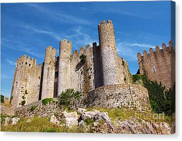 Solid Canvas Print - Obidos Castle by Carlos Caetano