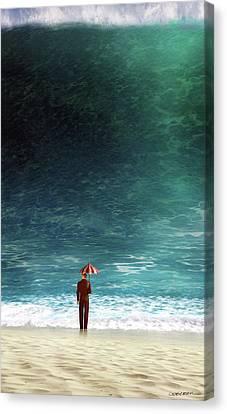 Fool Canvas Print - Oblivious by Cynthia Decker