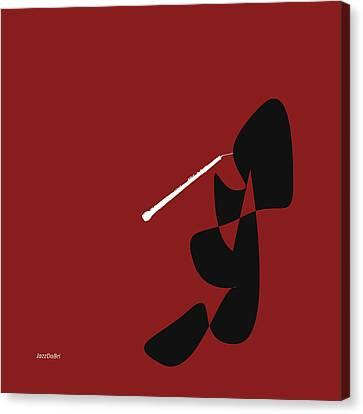 Oboe In Orange Red Canvas Print by David Bridburg