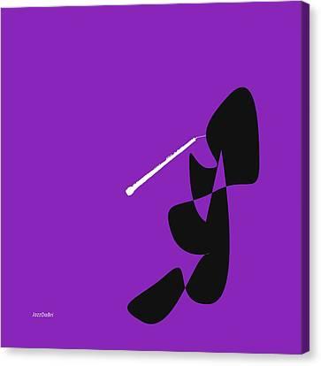 Oboe In Purple Canvas Print by David Bridburg