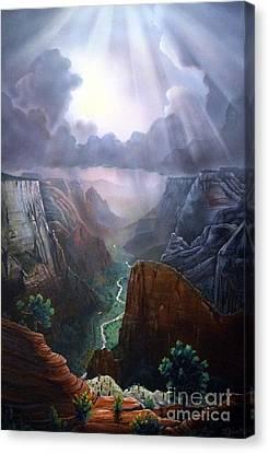 Observation Point Zion Canvas Print by Jerry Bokowski