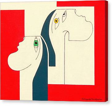 Obstinate Canvas Print by Hildegarde Handsaeme