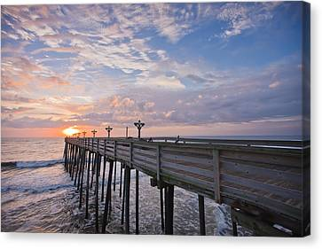 Obx Sunrise Canvas Print by Adam Romanowicz