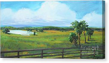 Ocala Downs Canvas Print by Michele Hollister - for Nancy Asbell