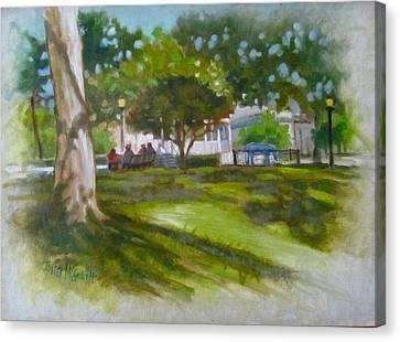 Ocala Park Fl Canvas Print by Janet McGrath
