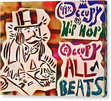 Occupy All Beats Canvas Print by Tony B Conscious