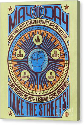 Occupy Wall Street, 2012 Canvas Print by Granger