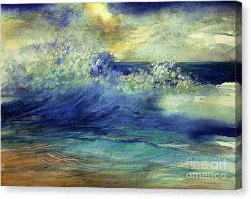 Canvas Print featuring the painting Ocean by Allison Ashton