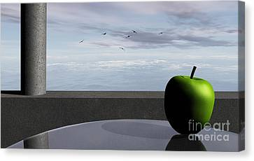 Ocean Balcony Canvas Print by Richard Rizzo
