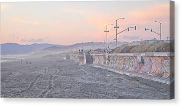 Ocean Beach Canvas Print by Jane Hu