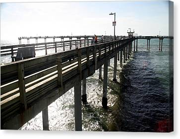 Canvas Print featuring the photograph Ocean Beach Pier by Christopher Woods