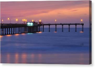 Ocean Beach Pier Canvas Print by Kelly Wade