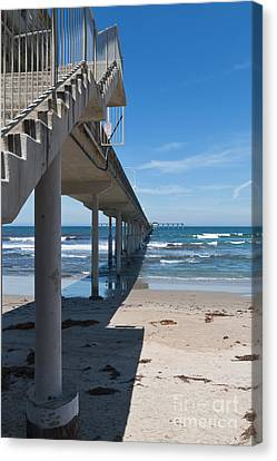 Ocean Beach Pier Stairs Canvas Print