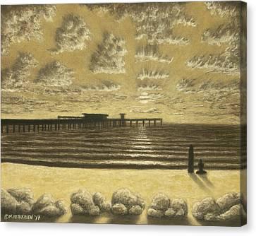 Ocean Beach Pier Sunset 01 Canvas Print