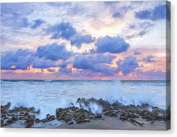 Ocean Blooms II Canvas Print by Jon Glaser