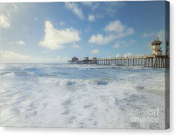 Ocean Blue At The Pier Canvas Print