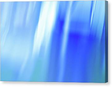Free-form Canvas Print - Ocean Blues Abstract by Laura Fasulo