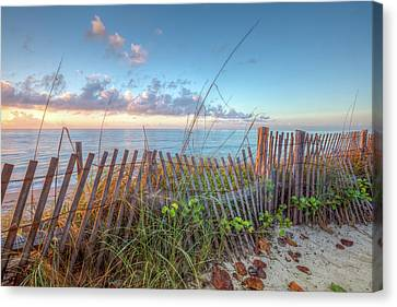 Canvas Print featuring the photograph Ocean Blues by Debra and Dave Vanderlaan