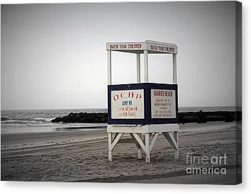 Ocean City Beach  Canvas Print by Denise Pohl