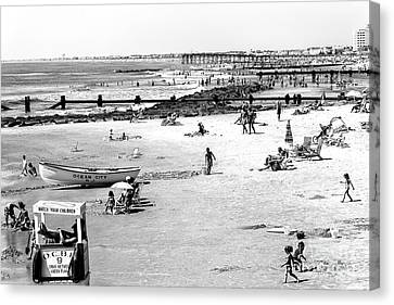 Ocean City Beach Canvas Print by John Rizzuto
