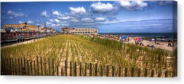 Ocean City Panorama Canvas Print by John Loreaux