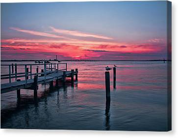 Ocean City Summer Sunset Canvas Print