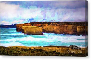 Canvas Print featuring the photograph Ocean Cliffs by Perry Webster